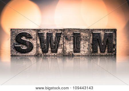Swim Concept Vintage Letterpress Type