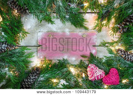 Blank sign with holiday concept