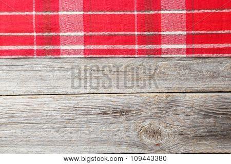 Napkin On Grey Wooden Background