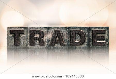 Trade Concept Vintage Letterpress Type