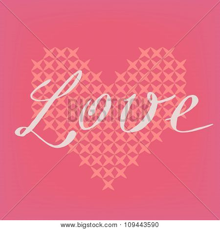Romantic vector pink card