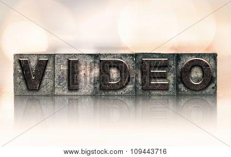 Video Concept Vintage Letterpress Type