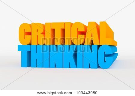 Big 3D Bold Text - Critical Thinking