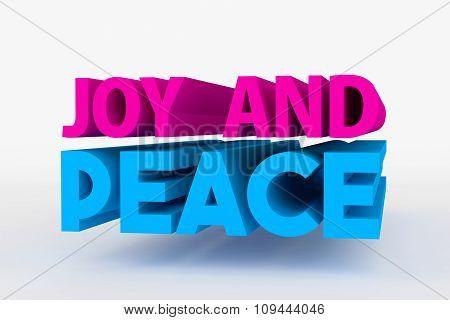 Big 3D Bold Text - Joy And Peace
