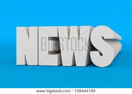 Big 3D Bold Text - News
