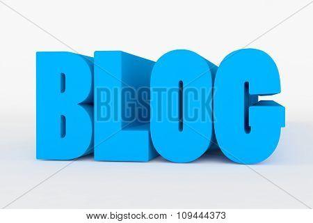 Big 3D Bold Text - Blog