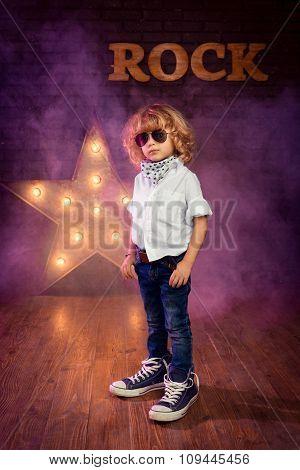 Little Boy Rock Star