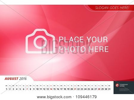 Wall Monthly Line Calendar for 2016 Year