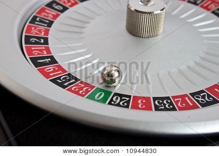 Roulette Wheel With Grren Zero