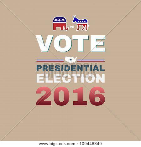 Elephant Versus Donkey Vote 2016