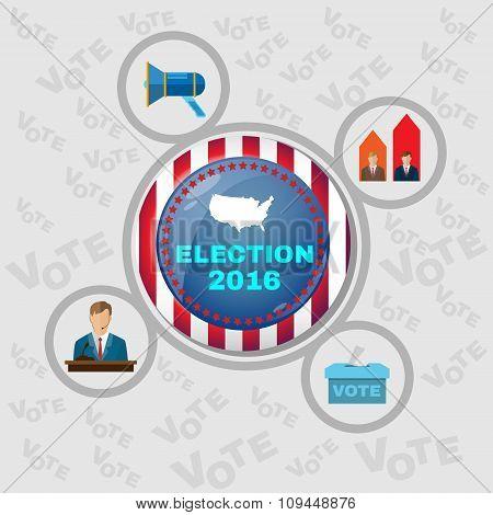 Usa Presidential Election 2016 Banner