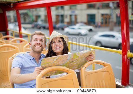 Young couple with a map