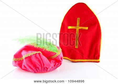 Mitre Of Sinterklaas And Hat Of Zwarte Piet ( Black Pete)