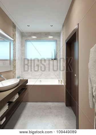 Modern Design Bathrooms With A Small Window.