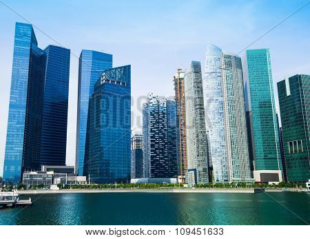 Skyline Landmark at Marina Bay of Singapore.