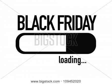 Progress Bar Loading with the text: Black Friday