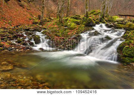 Beautiful mountain waterfall