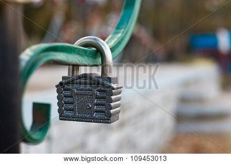 Padlock In Form Of House