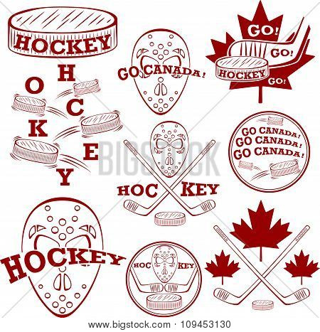Canadian Hockey Symbolset.