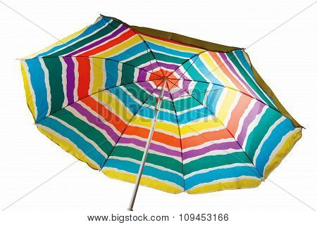Striped Beach Umbrella