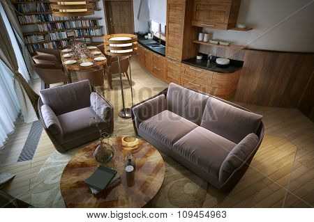 Living Room Rustic Style
