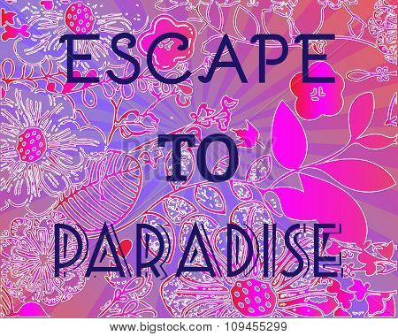 Summer Party Invitation Escape To Paradise.