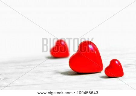 Red Heart On A White Background