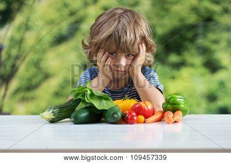 Little Boy Vegetable Meal