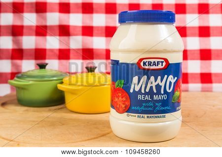Kraft Mayo On Kitchen Counter