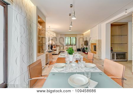 Dining Room In Elegant House