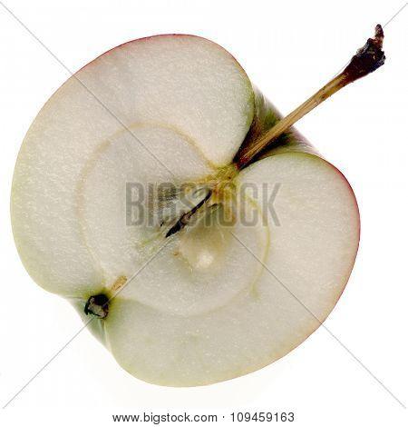 half of an apple