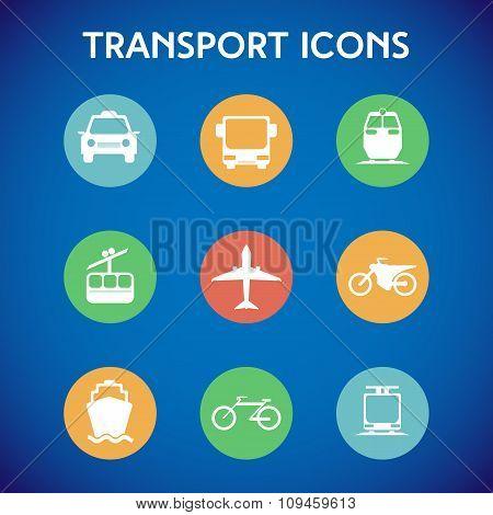 Transportation Big Colorful Icon Set