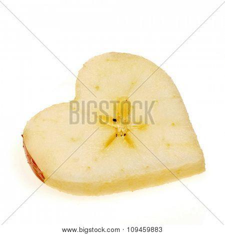 heart shaped apple slice
