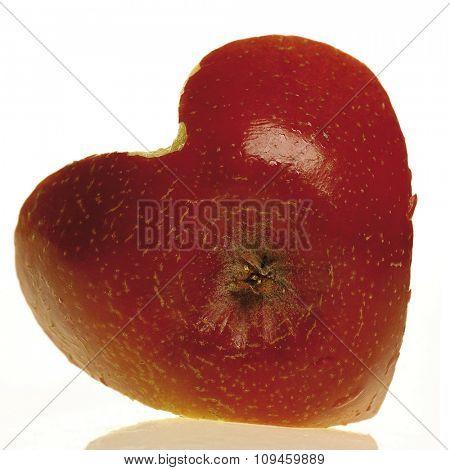 heart shaped apple bottom