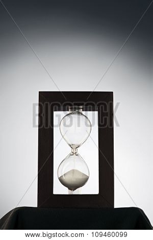 hourglass lit by the backlight