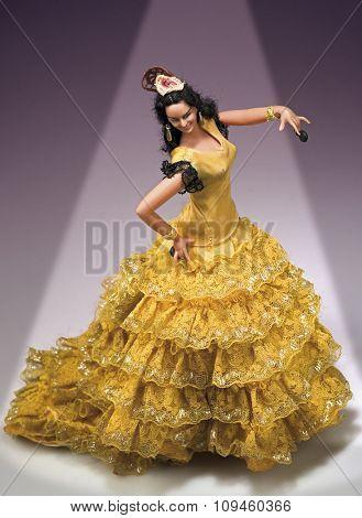 spanish flamenco dancer doll