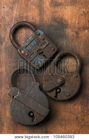 old rusty locks