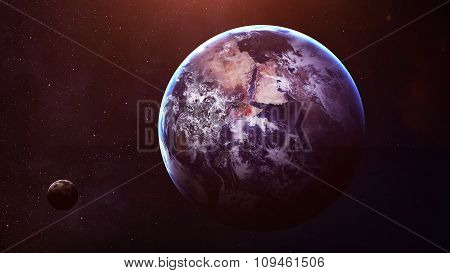 Earth - High resolution best quality solar system planet. All the planets available. This image elem