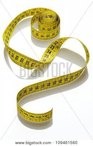 whirled yellow tape measure