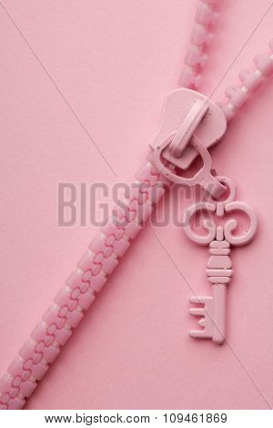 pink zipper on pink background