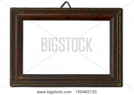 old wooden frame w/clipping path