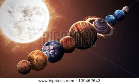 Hight quality isolated solar system planets. Elements of this image furnished by NASA