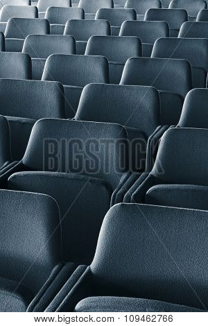 empty theater (conference hall, classroom) seats