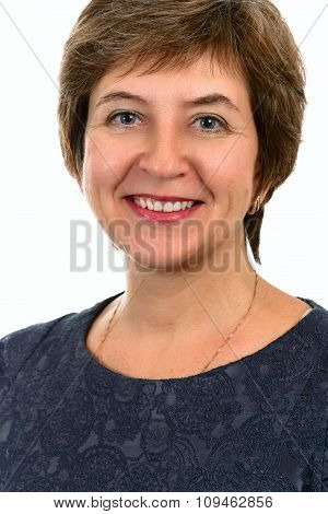 Portrait of a beautiful smiling young adult woman