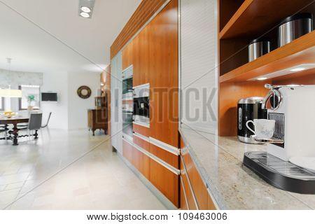 Coffee Machine In Elegant Kitchen