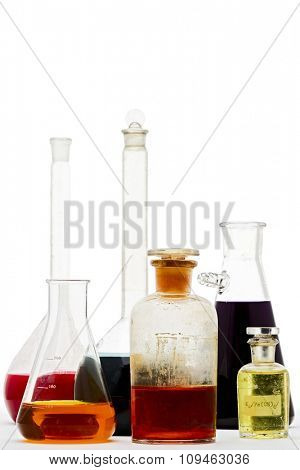 laboratory items - test tubes and flasks