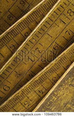 scale numbers on an old wood meter