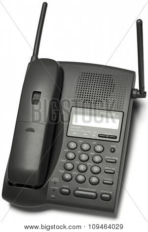 a cordless phone on white with clipping path