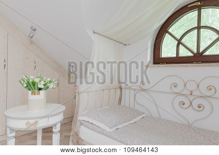 Romantic White Canopy Bed