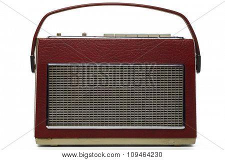 vintage transistor radio on white
